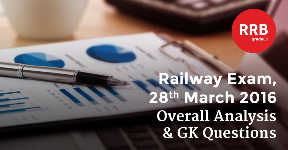 Railway Exam 28th March 2016: Overall Analysis & GK Questions