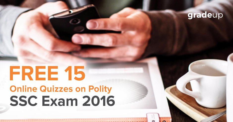 Free 15 Online Quizzes on Polity for SSC Exams